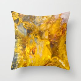 Fire Crystal - gemstones, photography #society6 Throw Pillow