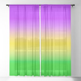 Mardi Gras Ombré Gradient Sheer Curtain