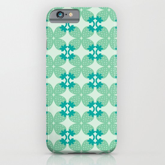 Pattern: Blue Strawberries iPhone & iPod Case