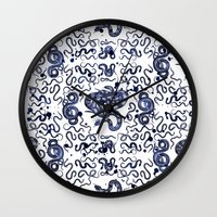 snake Wall Clocks featuring SNAKE by DIVIDUS