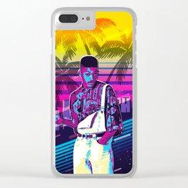 Fresh Prince retro art Clear iPhone Case