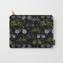 Bicycles cycle pattern black and white by andrea lauren Carry-All Pouch