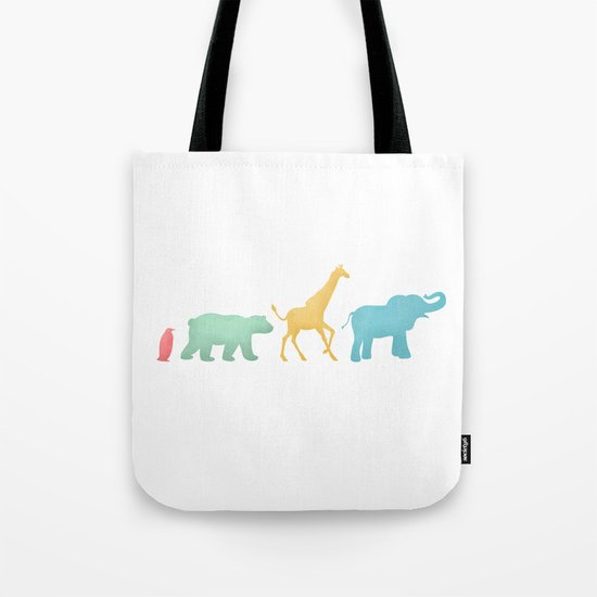 Baby Animal Silhouettes Tote Bag