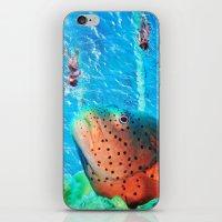 swim iPhone & iPod Skins featuring Swim by John Turck