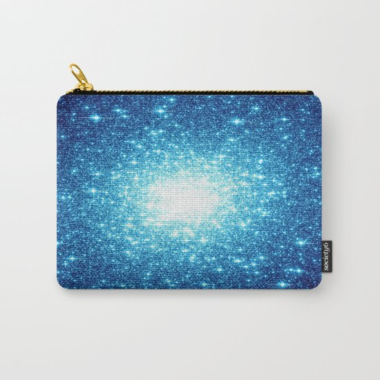 Turquoise Blue Galaxy Stars Carry-All Pouch