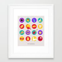 friends tv Framed Art Prints featuring Friends / TV / Things by I'm Emma R
