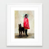 ghost Framed Art Prints featuring Ghost by Feline Zegers