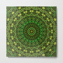 Forest Light Mandala Metal Print