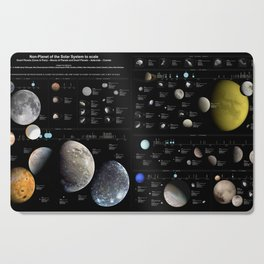 Small Bodies of the Solar System Cutting Board