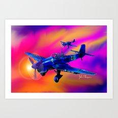 Stuka's Art Print
