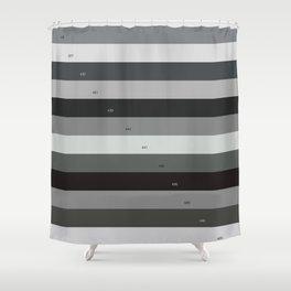 Pantone gray scale Shower Curtain