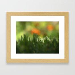 Fuzzy Landscape Framed Art Print