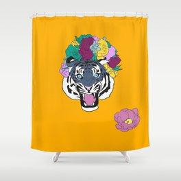 FlowerTiger Shower Curtain