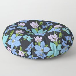 Forget -Me-Not flowers pattern Floor Pillow
