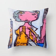 Lizard Lady Throw Pillow
