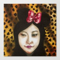 minnie Canvas Prints featuring minnie by NAME THEGREY