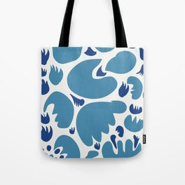Abstract Blue Sea Pattern Illustration Decoration French Art Tote Bag