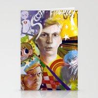 michael scott Stationery Cards featuring SCOTT PILGRIM VS. MICHAEL CERA by spatsula