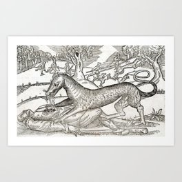 Beast of Cinglais 1632 Art Print