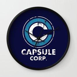 Capsule Corp Vintage dark Wall Clock