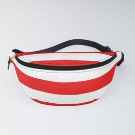 Stripe Red White Fanny Pack
