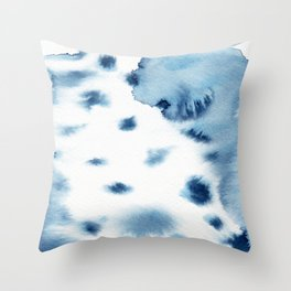 indigo shibori 06 Throw Pillow