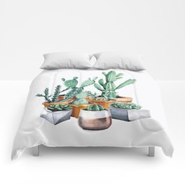 Potted Cacti Comforters