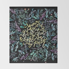 Your Word is a Lamp - Psalm 119:105 Throw Blanket