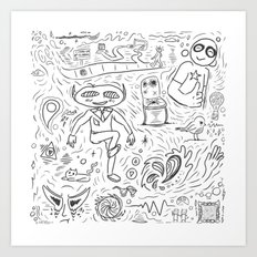Random Sketches Art Print