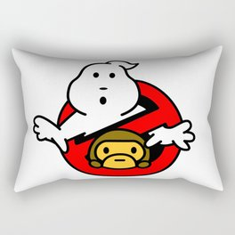 bape baby milo and ghostbusters Rectangular Pillow