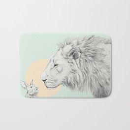 Lion and Bunny Bath Mat