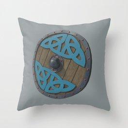 The Viking Shield - Grey Throw Pillow