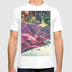 Purple Mountains Majesty White Mens Fitted Tee MEDIUM