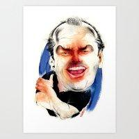 jack nicholson Art Prints featuring Jack Nicholson by drawgood