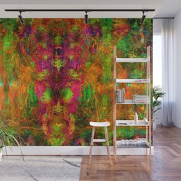 Jungle Fire (abstract, psychedelic, visionary) Wall Mural