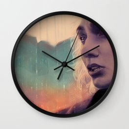 Blue sense8 Wall Clock