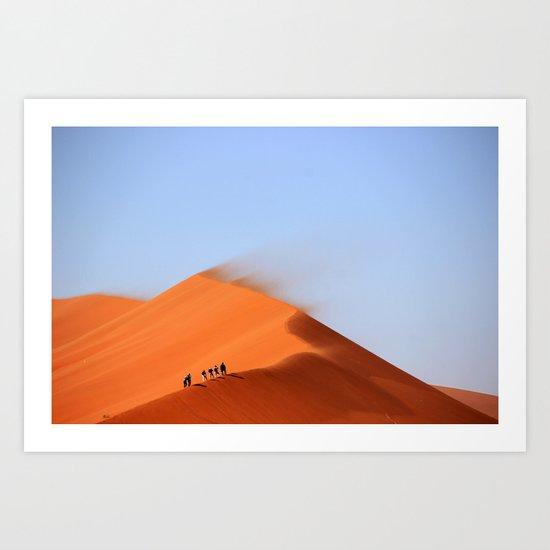 Desert hiking 4 Art Print