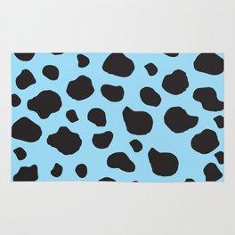 Animal Print (Cow Print), Cow Spots - Blue Black  Rug