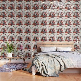 Modern Red Indian Chief - Sharon Cummings Wallpaper