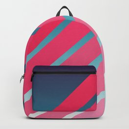 Pink Stripes on Blue Gradient Backpack