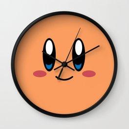Kirby Face (Orange) Wall Clock