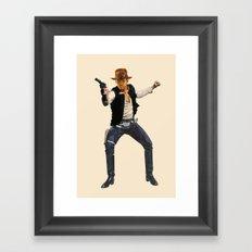 Indiana Solo Framed Art Print