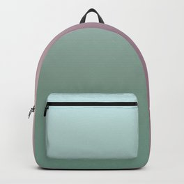 Turquoise and pink Ombre Backpack