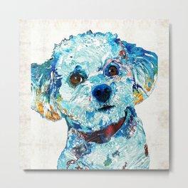 Small Dog Art - Who Me - Sharon Cummings Metal Print