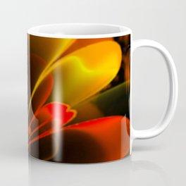 Stylized Half Flower Red Coffee Mug