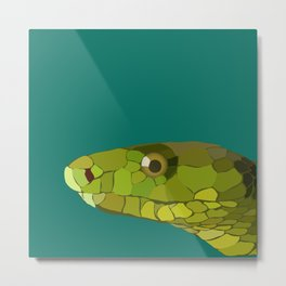 Green Mamba Metal Print