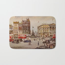Vintage Piccadilly Circus London Bath Mat