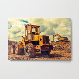 Bulldozer Metal Print