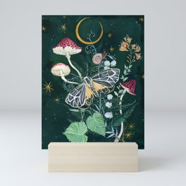 Mushroom night moth Mini Art Print