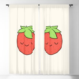 Happy Strawberry Blackout Curtain